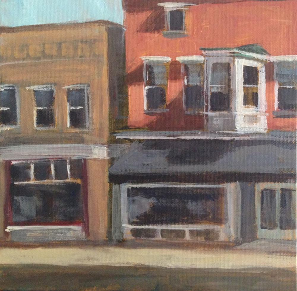 """Quiet Downtown"" original fine art by Shannon Bauer"
