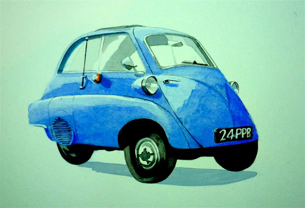 """BMW Isetta 300 cc"" original fine art by John Monney"
