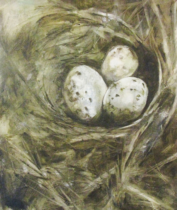 """The Nest"" original fine art by Donna Thomas"