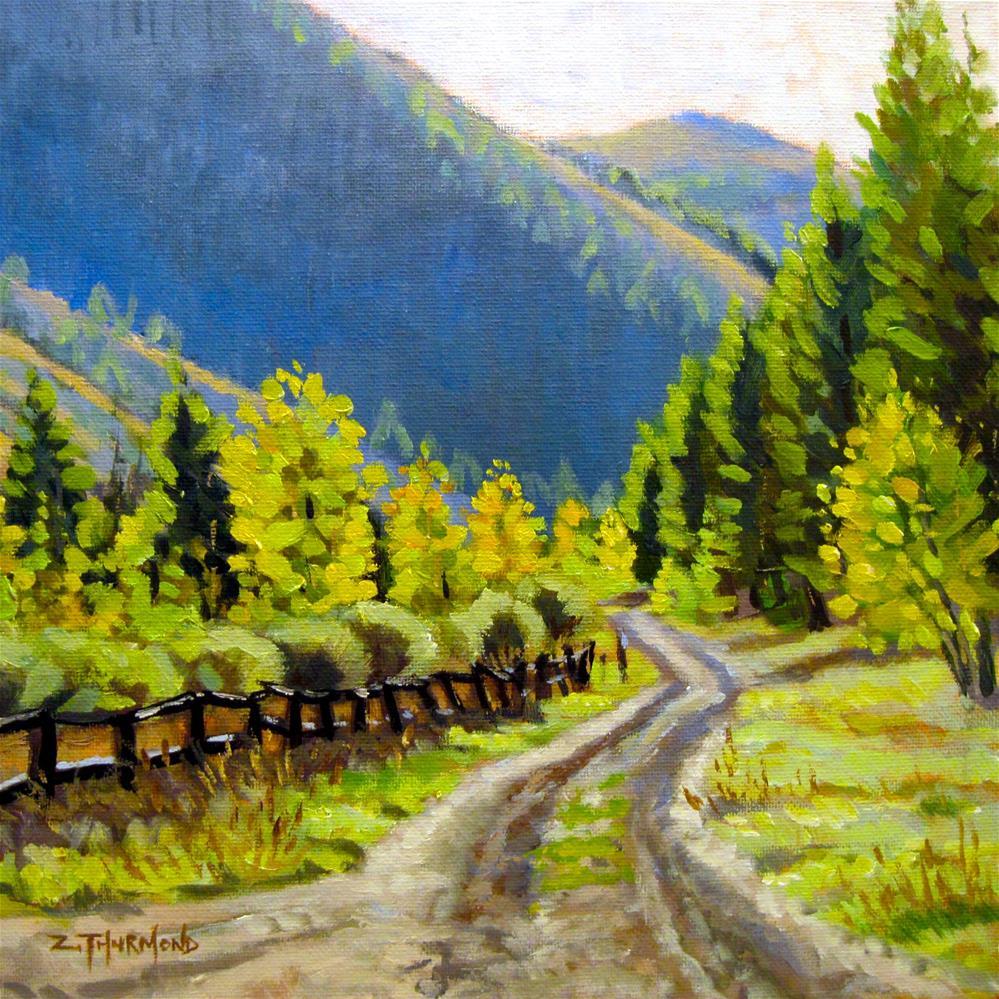 """""""Corral Creek Road"""" original fine art by Zack Thurmond"""