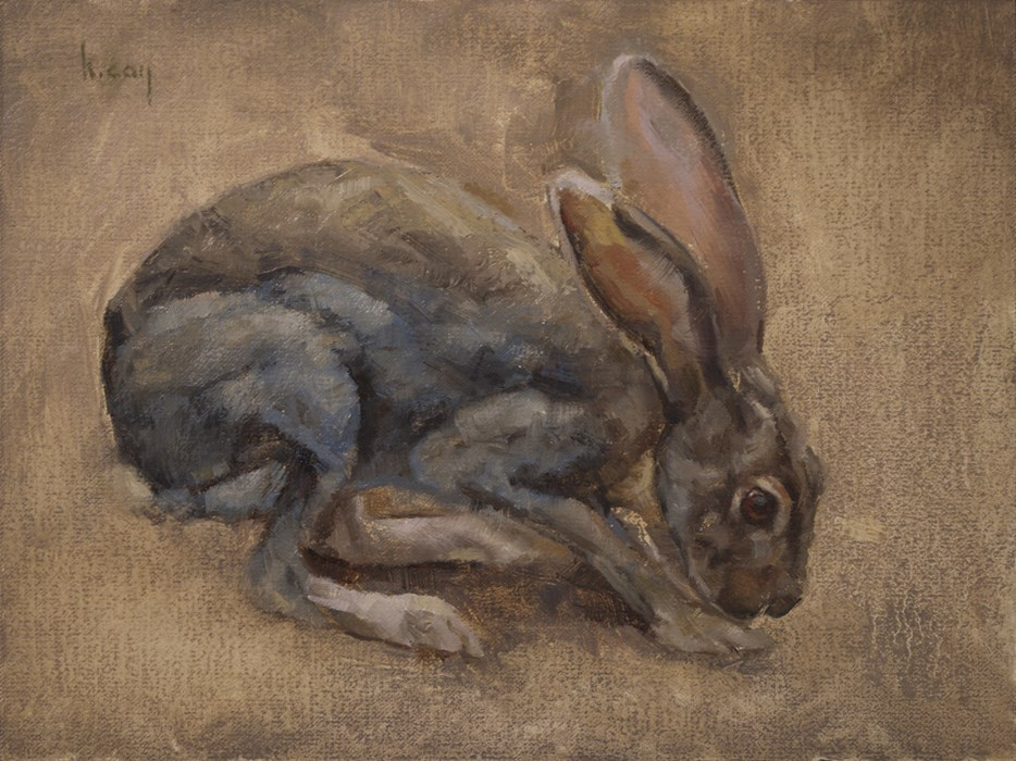 """Jackrabbit"" original fine art by Kathleen Coy"