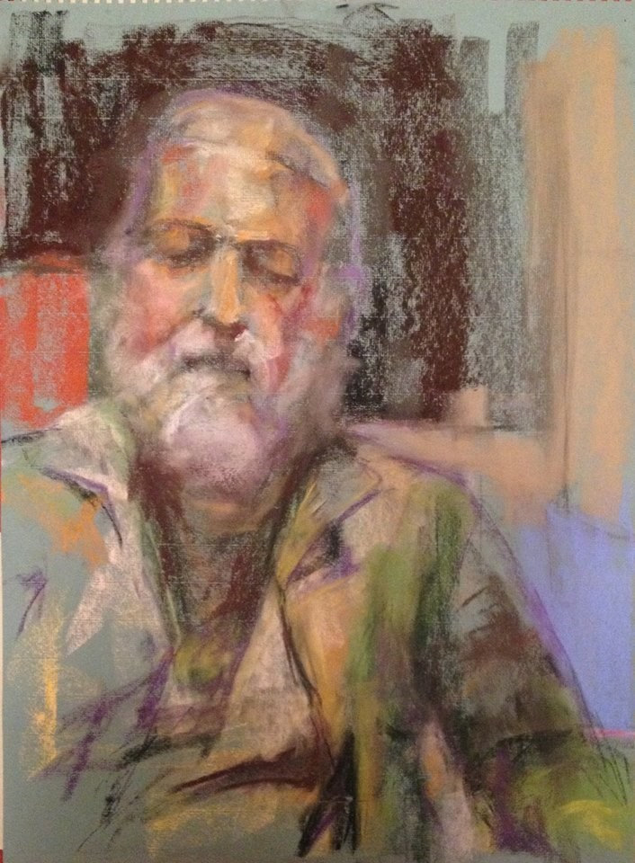 """Beard and Green Coat"" original fine art by Katie Wilson"
