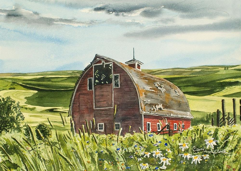 """Classic Country Barn"" original fine art by Andy Sewell"