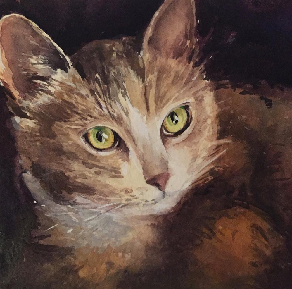 """Wide-Eyed"" original fine art by Laurie Maher"
