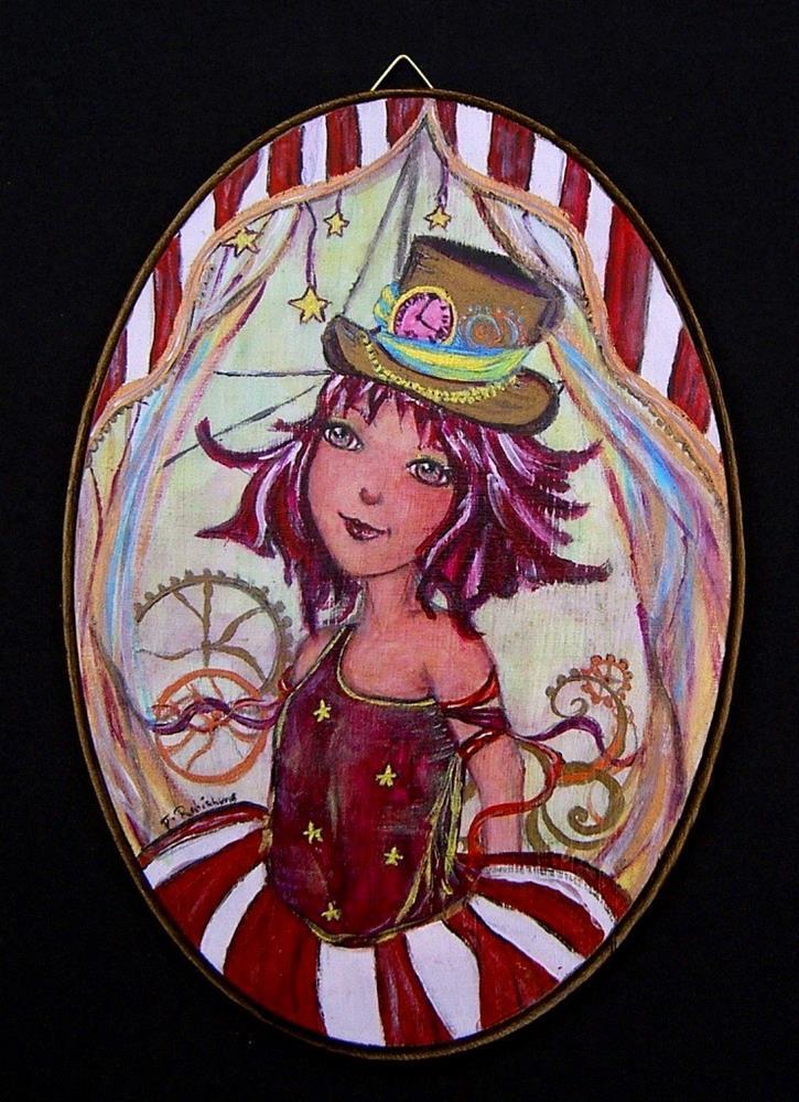 """Steampunk circus"" original fine art by Julie Rabischung"