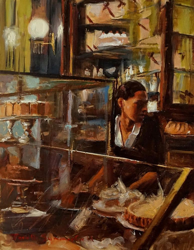 """At The Bakery"" original fine art by Jonelle Summerfield"