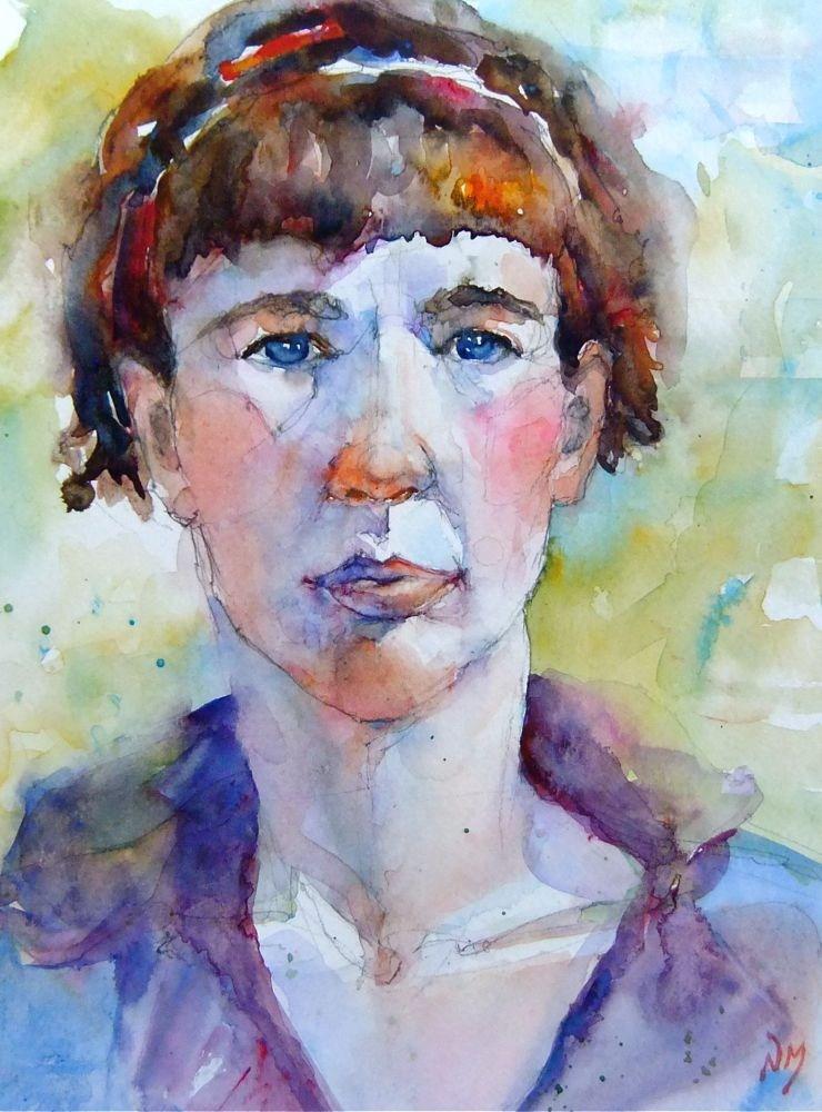 """Amanda"" original fine art by Nora MacPhail"