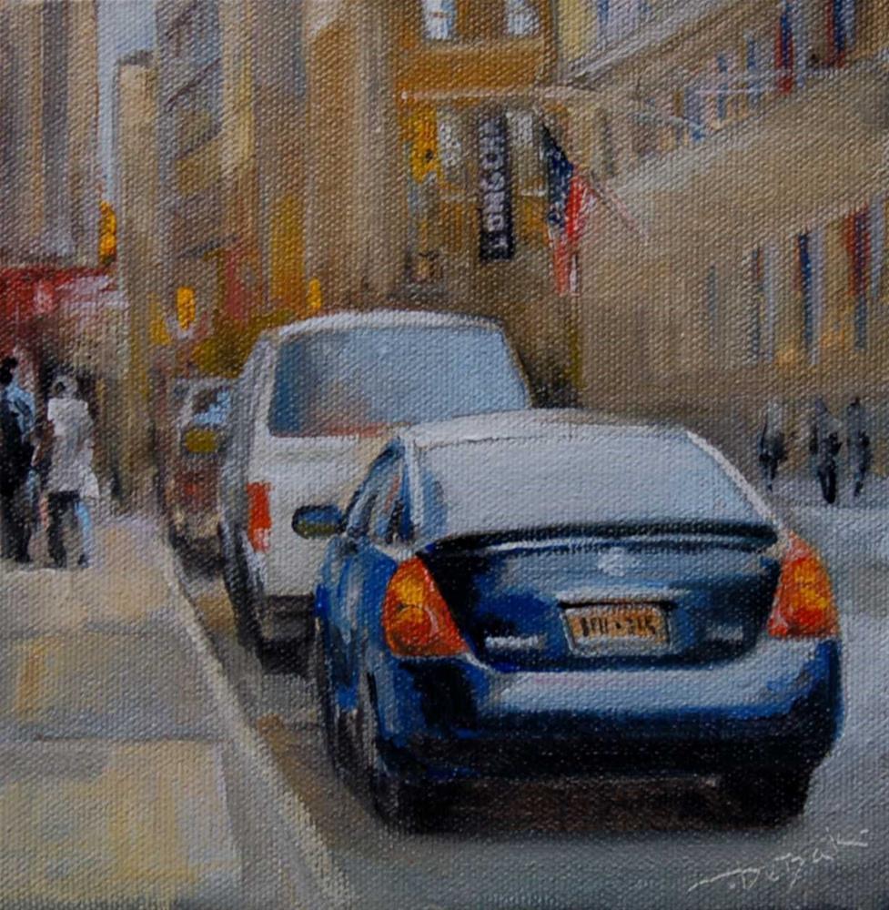 """""""Manhattan. City Challenge"""" original fine art by Vova DeBak"""