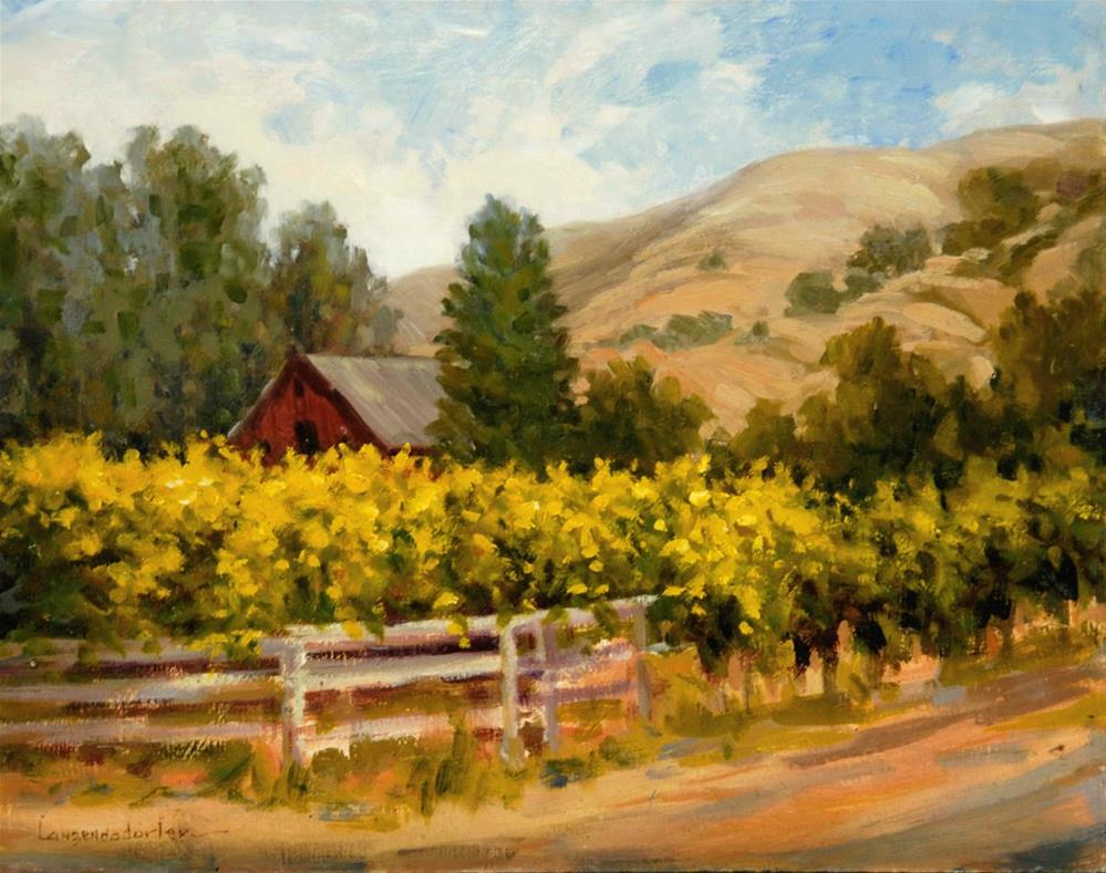 """VINEYARD'S END"" original fine art by Dj Lanzendorfer"