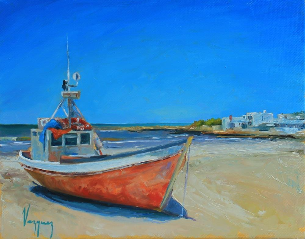 """On shore"" original fine art by Marco Vazquez"