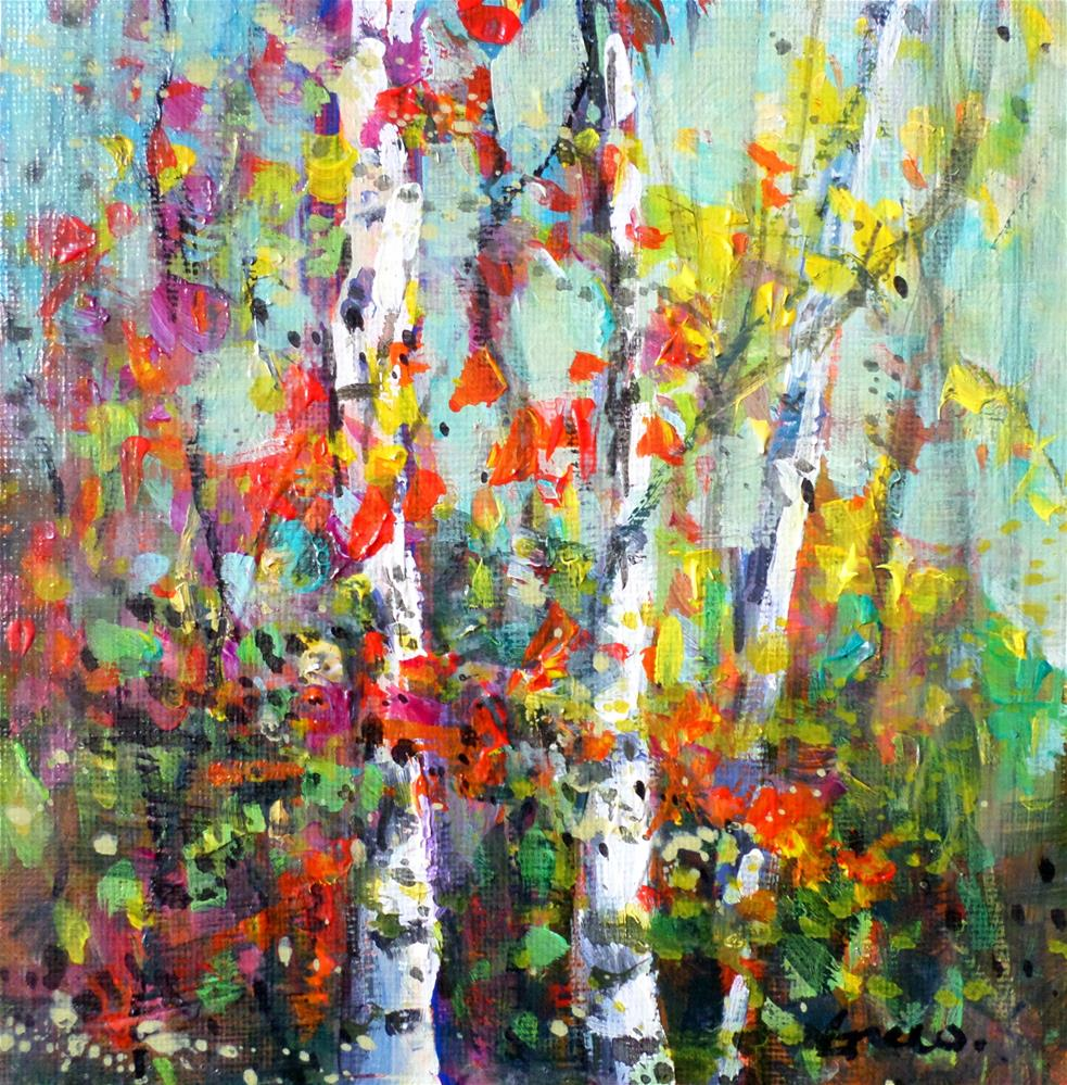 """the Birches 2"" original fine art by salvatore greco"