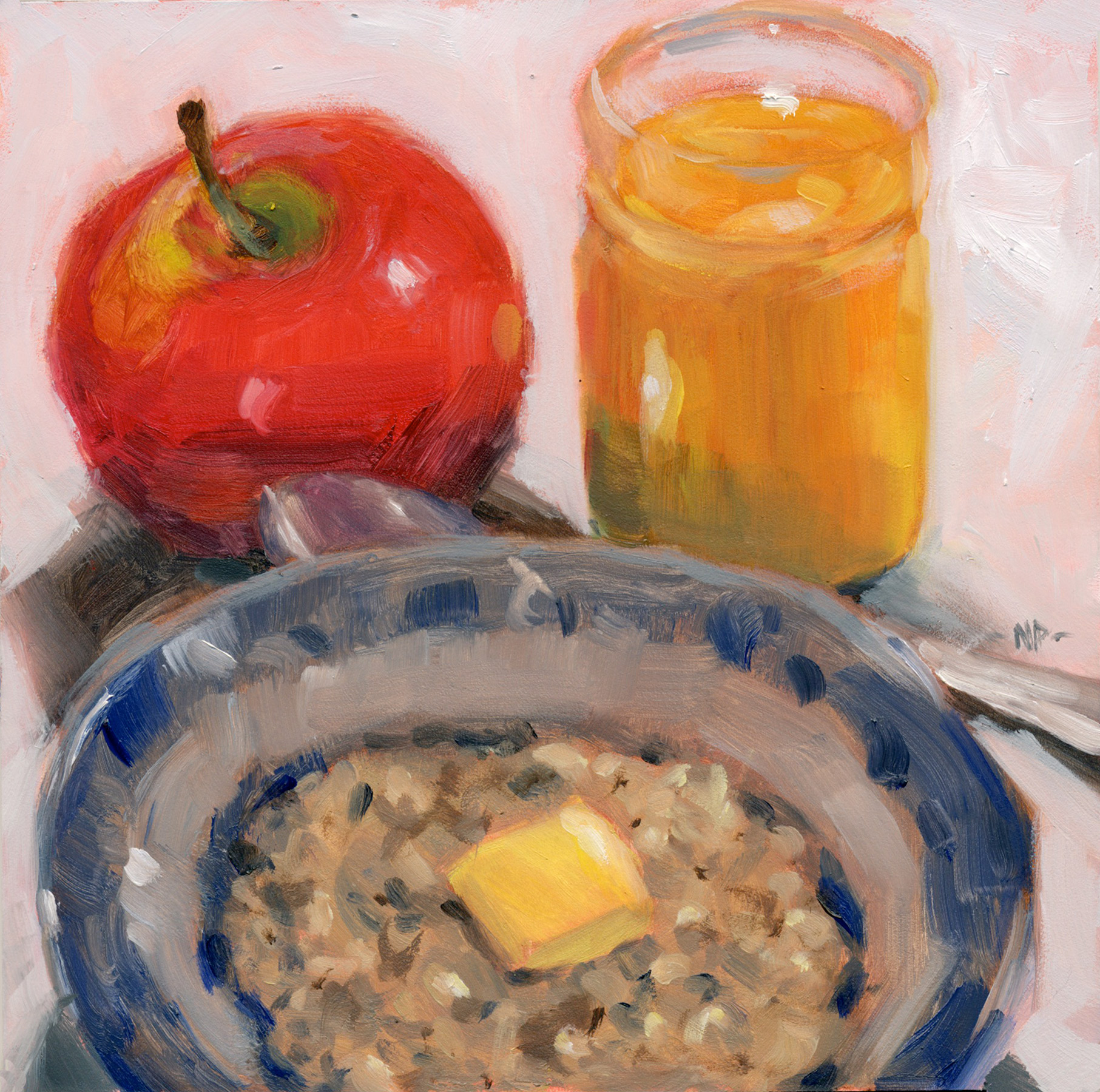 """Breakfast of Champions"" original fine art by Nancy Parsons"