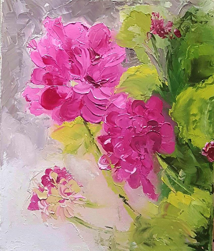 """PINK  LADIES"" original fine art by Ronel Alberts"