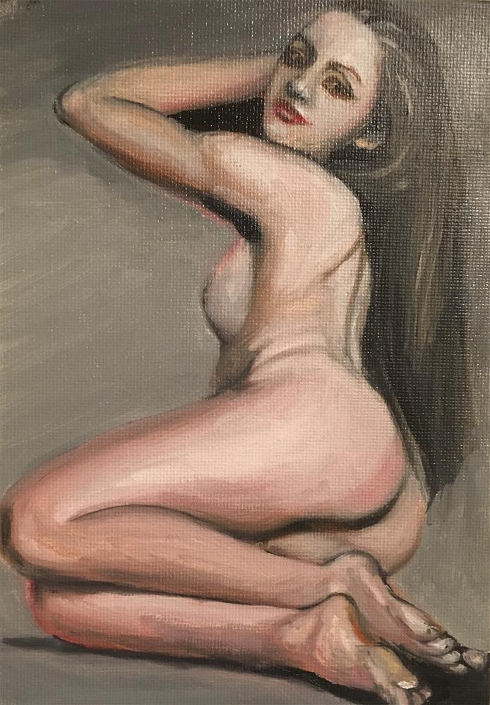 """Nude 3"" original fine art by tian yin"