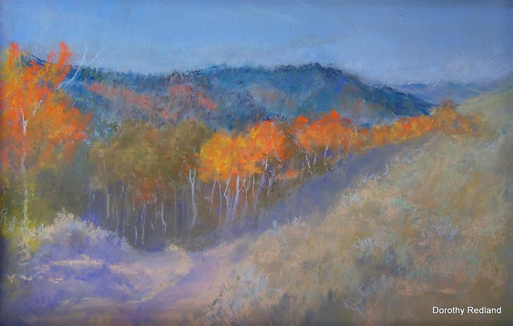 """The road down to second creek"" original fine art by Dorothy Redland"