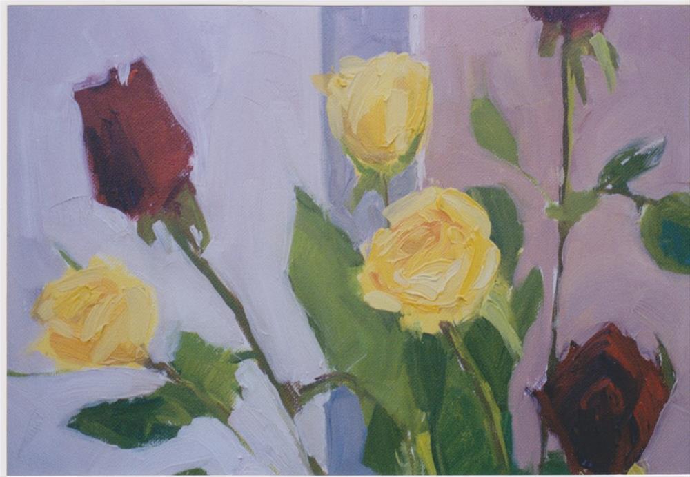 """Rose is a Rose"" original fine art by Carole A. Ball"