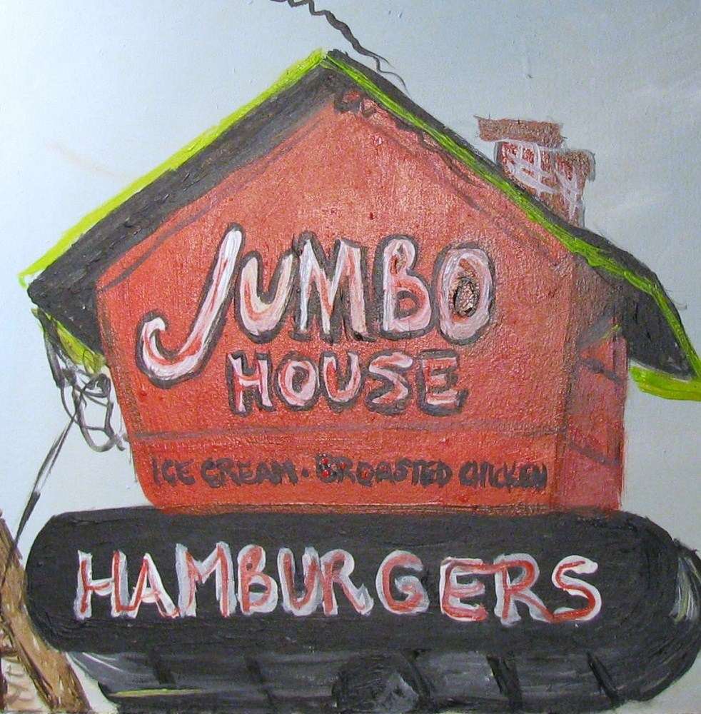 """Jumbo House"" original fine art by Susan Elizabeth Jones"