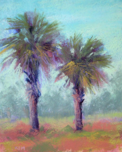 """Painting Beautiful Places...Creighton Island, GA"" original fine art by Karen Margulis"
