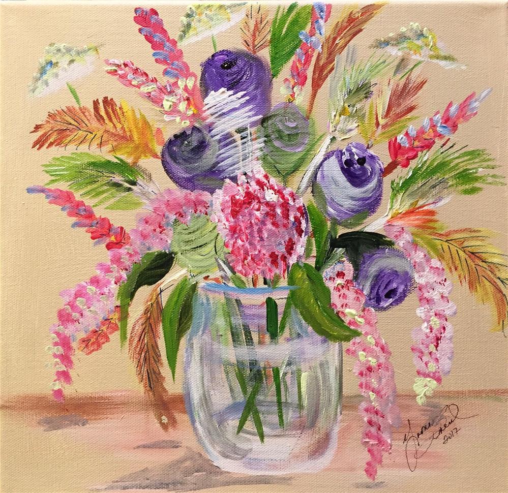 """""""Fresh From The Garden"""" original fine art by Yvonne Snead"""