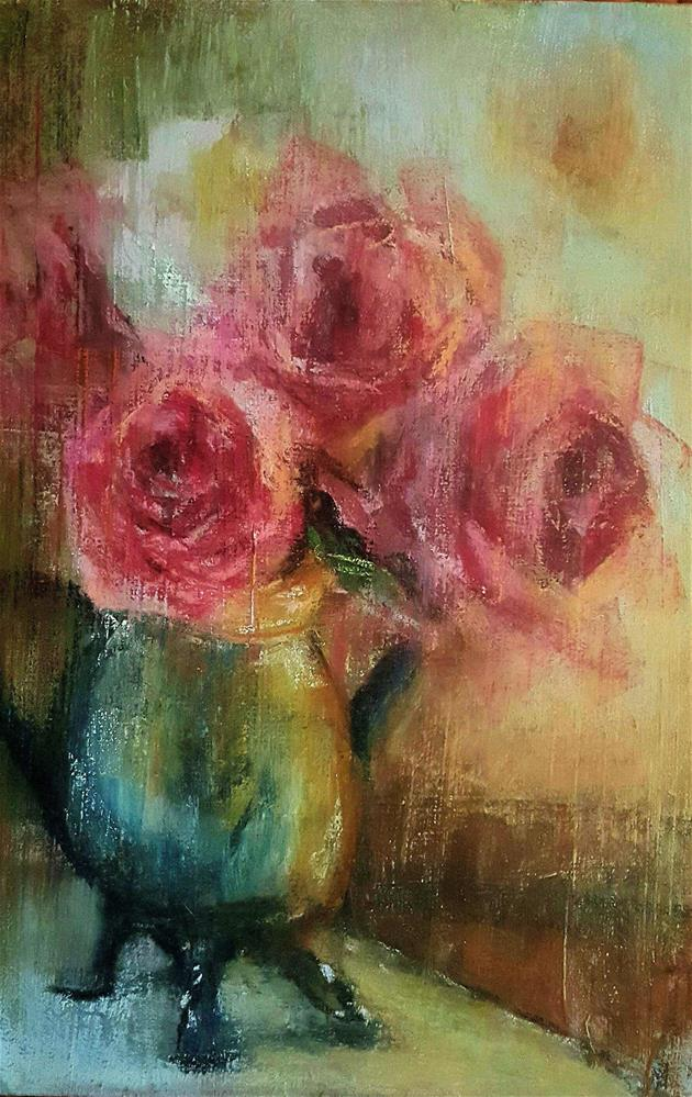 """FAREWELL ROSES"" original fine art by Ronel Alberts"