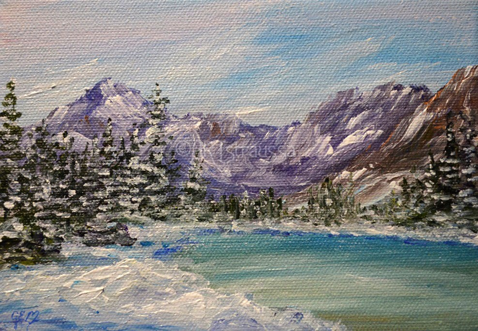 """Lake Josephine"" original fine art by Gloria Ester"