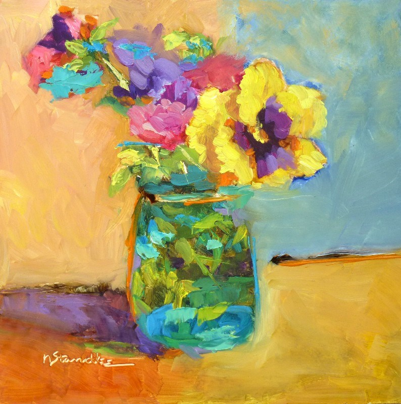 """Pansies 13051"" original fine art by Nancy Standlee"
