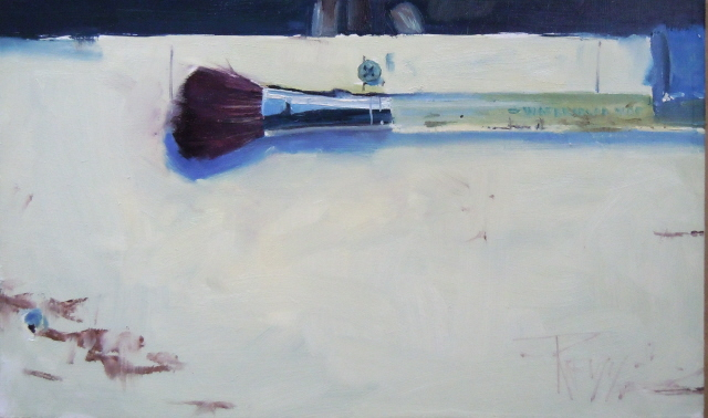 """Mop Brush   Artist tool, still life, painting by Robin Weiss"" original fine art by Robin Weiss"