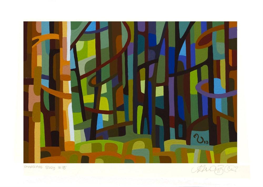 """Landscape Study #18"" original fine art by Mandy Budan"
