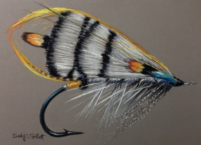 """Fly 30 -  The Lady Amherst"" original fine art by Cindy Gillett"
