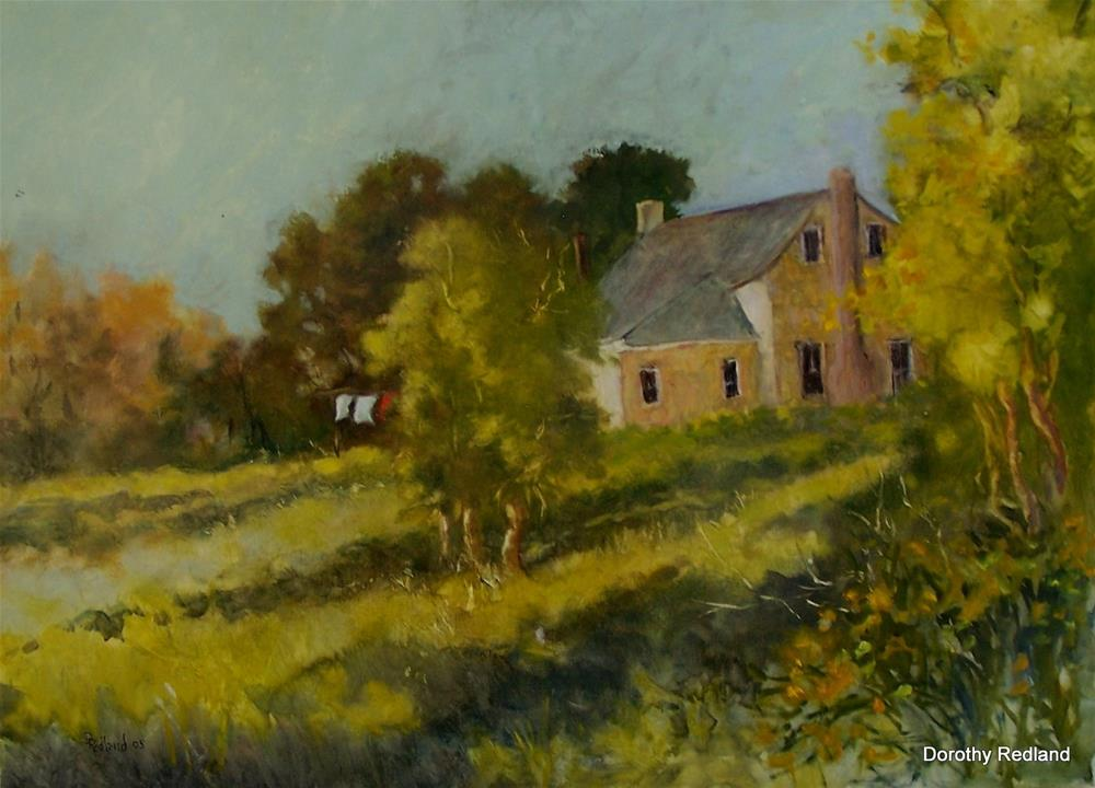 """""""Washday in theHill country"""" original fine art by Dorothy Redland"""