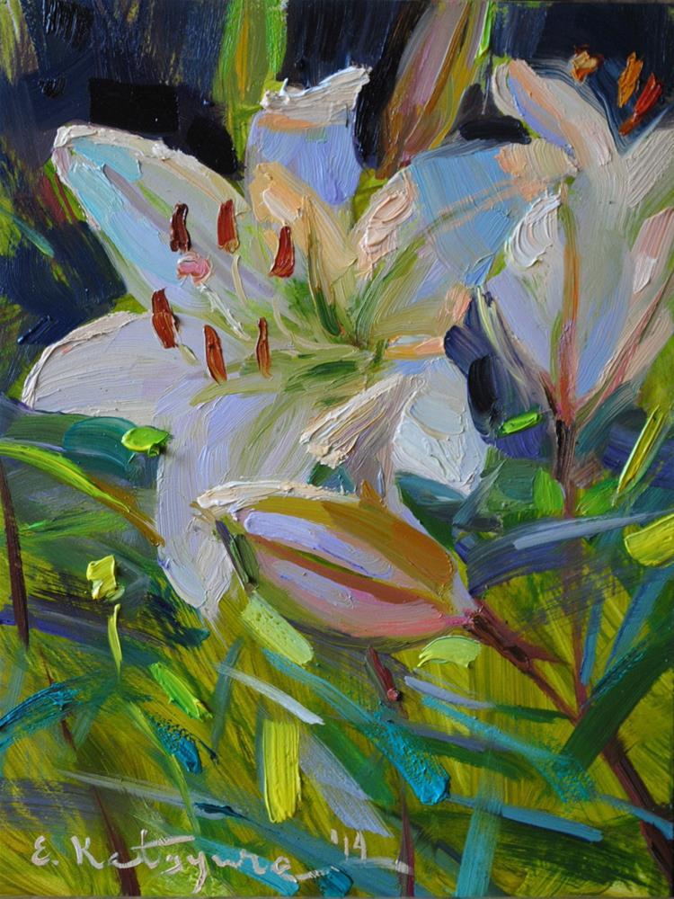 """Evening Lily"" original fine art by Elena Katsyura"
