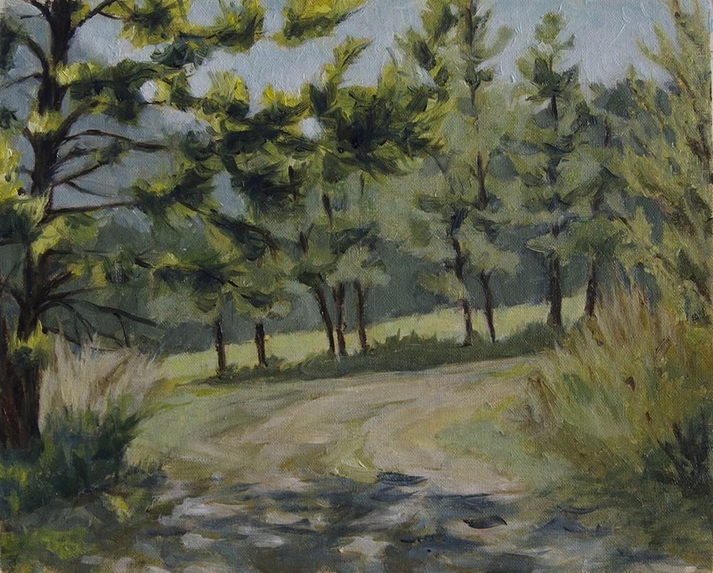 """""""Pathway in the Hills"""" original fine art by Rachel Steely"""