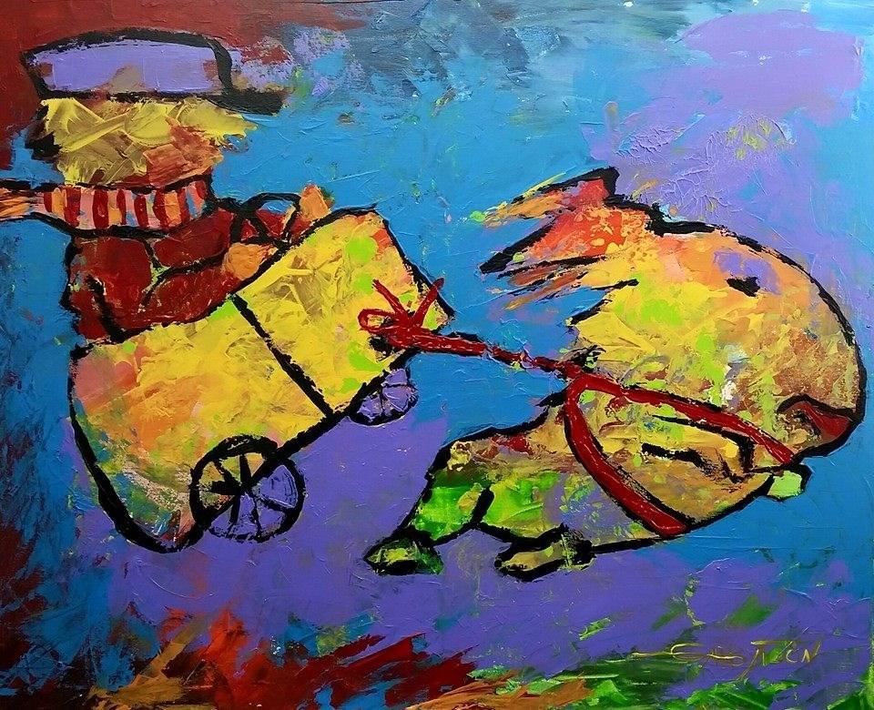 """""""Flyyyyyyy!"""" original fine art by Gabriella DeLamater"""