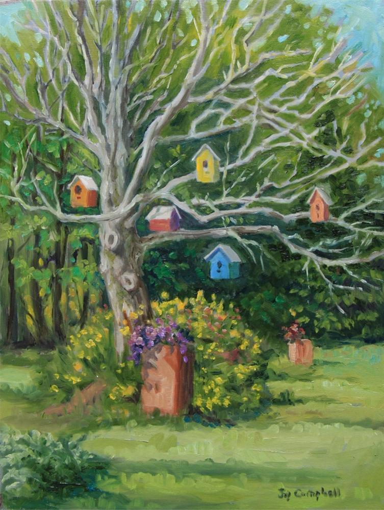 """Bird Tree"" original fine art by Joy Campbell"
