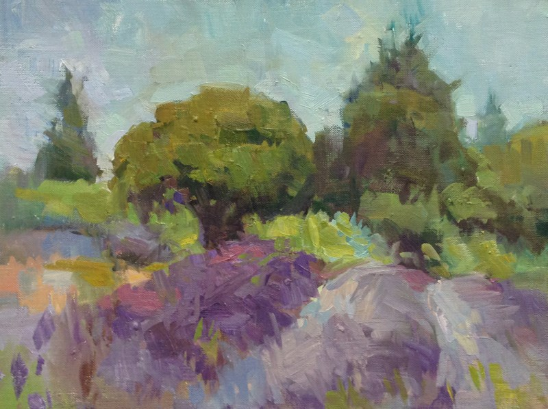 """Ravencroft Fields"" original fine art by Patti McNutt"
