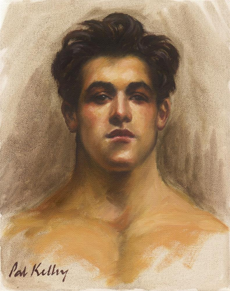 """Sargent Study: Olimpio Fusco"" original fine art by Pat Kelley"