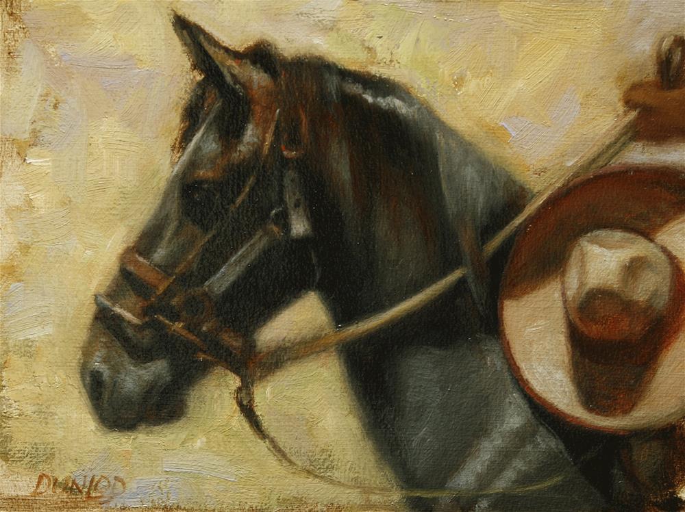 """Sombrero Ride"" original fine art by Bobbi Dunlop"