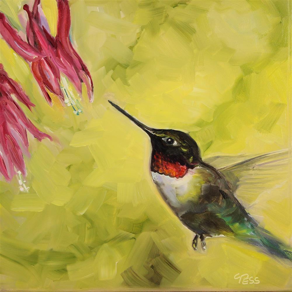 """""""Day 25- Little Wing- Jimi Hendrix"""" original fine art by Tess Lehman"""