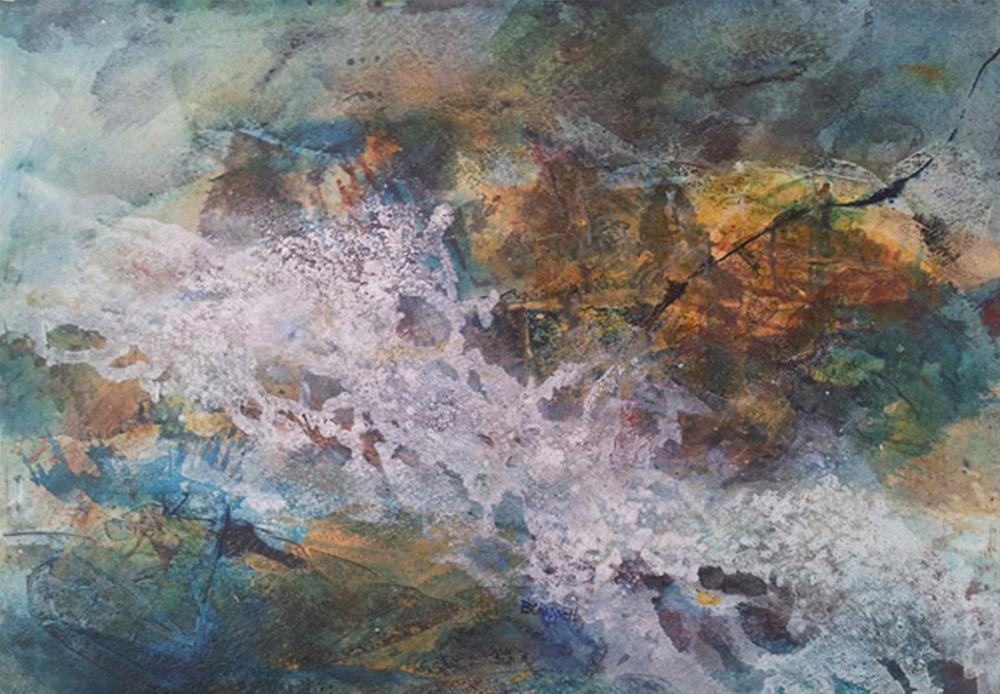 """Raging River"" original fine art by Becky Chappell"