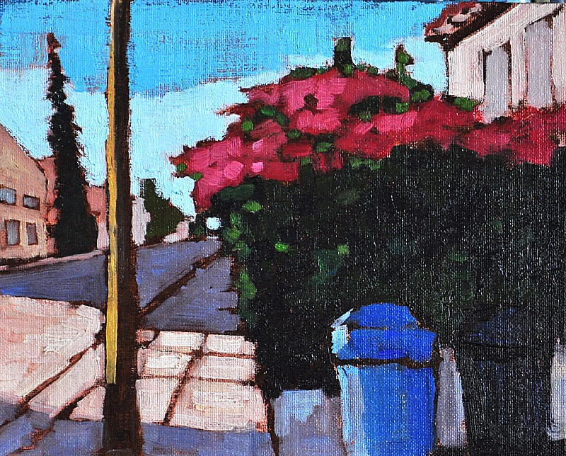 """Bougainvillea in San Diego"" original fine art by Kevin Inman"