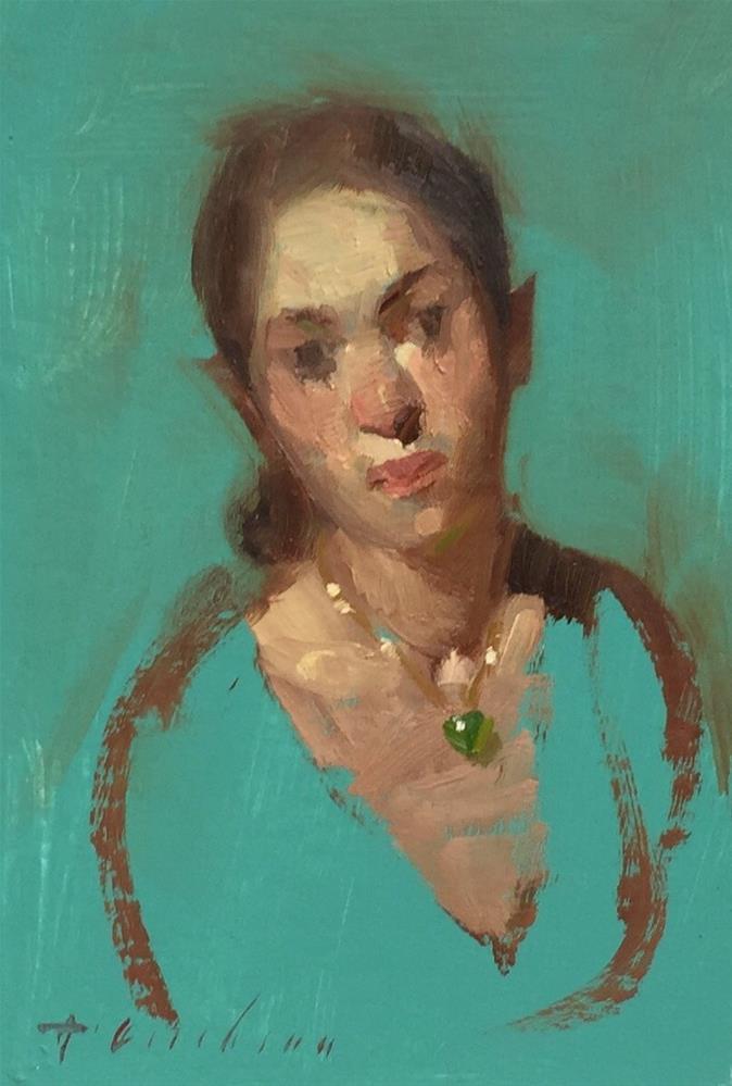 """No. 48 Emerald"" original fine art by Aimee Erickson"