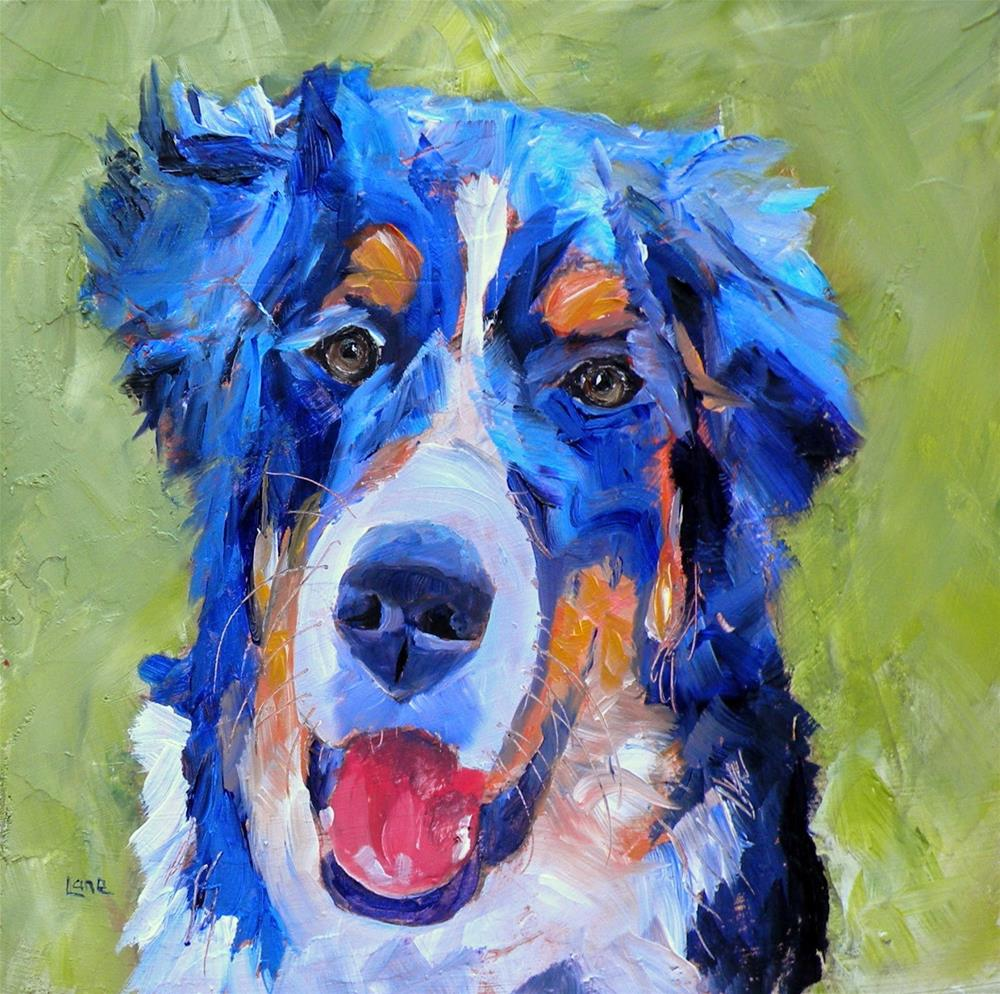 """KALI 6/100 OF 100 PET PORTRAITS IN 100 DAYS © SAUNDRA LANE GALLOWAY"" original fine art by Saundra Lane Galloway"