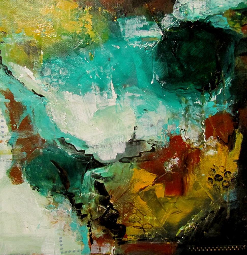 """12 x 12 inch mixed media Fly Away"" original fine art by Linda Yurgensen"