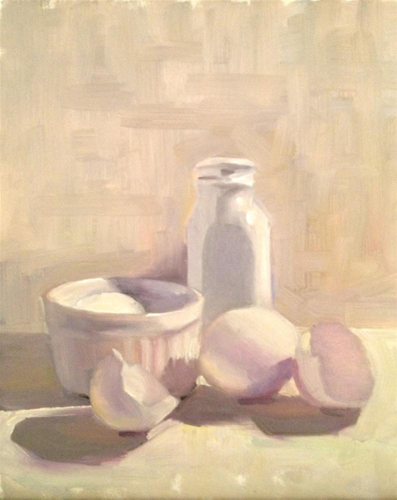 """White on White, 8x10"" original fine art by Ann Feldman"