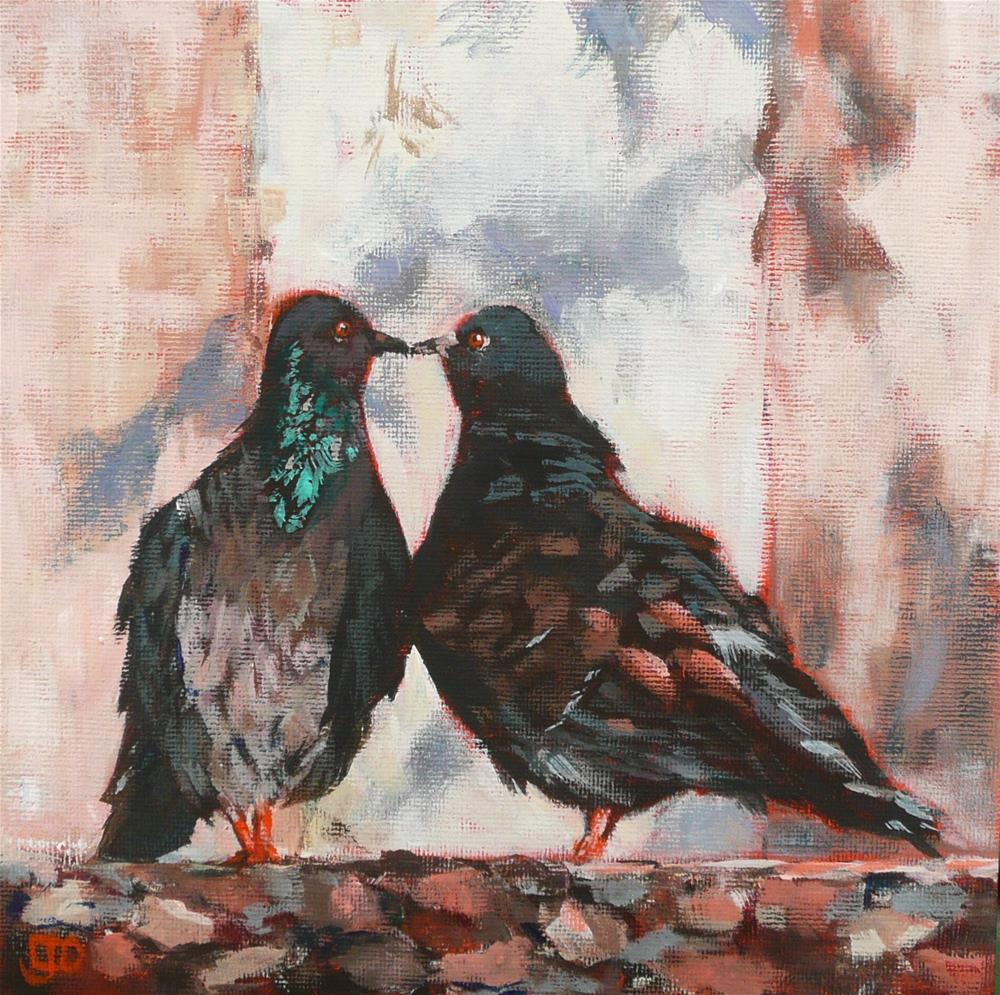 """Love Is In The Air"" original fine art by Leanne Owen"