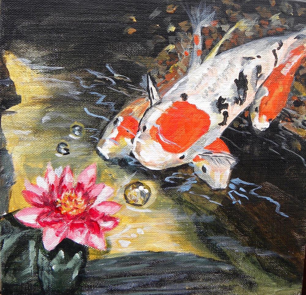 """Koi"" original fine art by cheryl buhrman"