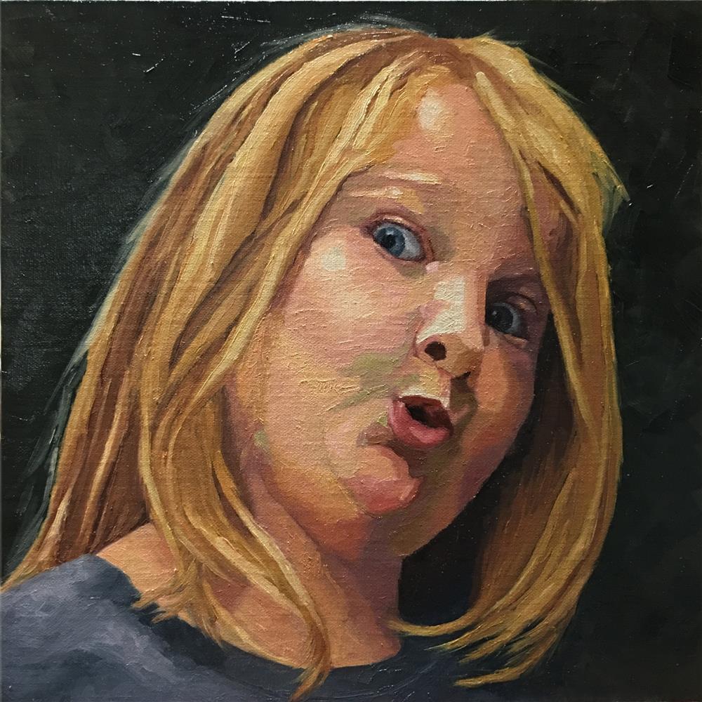 """Regan"" original fine art by Nina Brodsky"