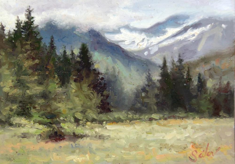 """Eagle Nest Auk Bay"" original fine art by Larry Seiler"