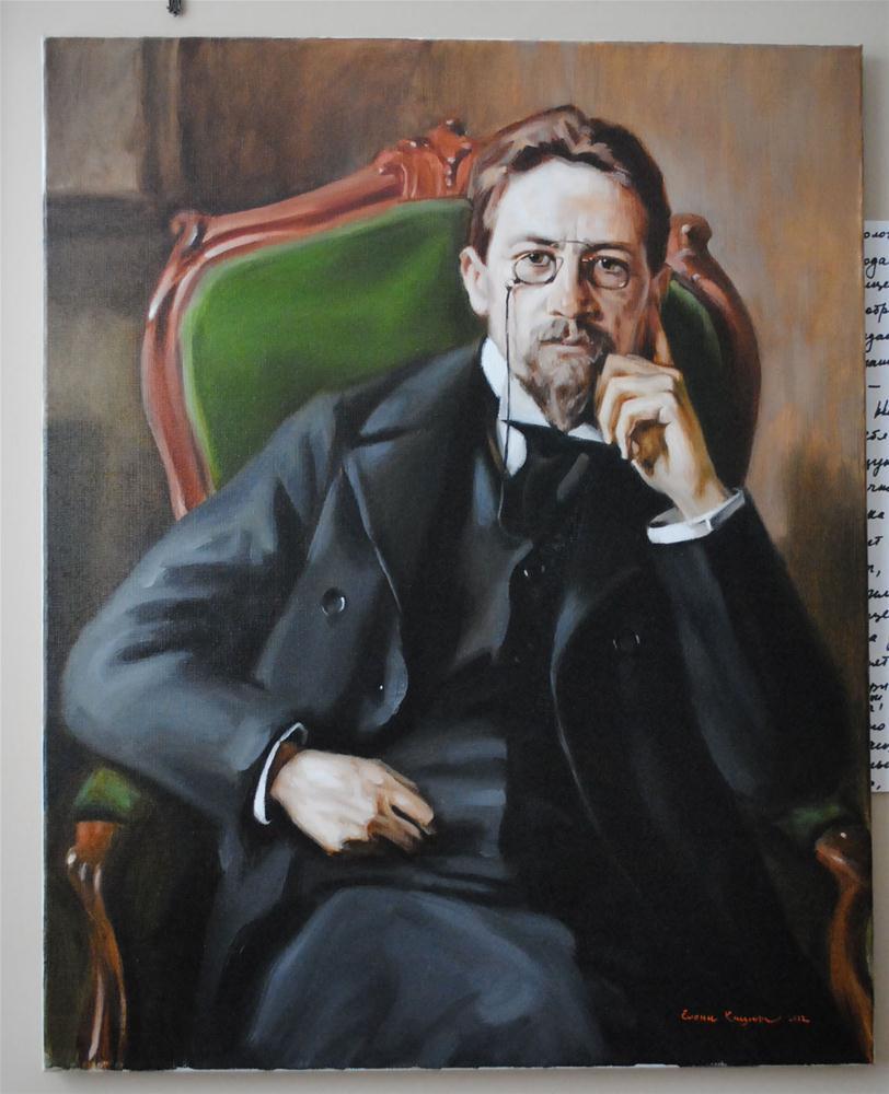 """""""Finished Chekhov"""" original fine art by Elena Katsyura"""