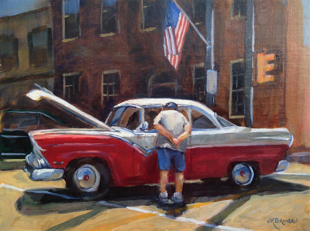 """""""Inspection"""" original fine art by Jeanne Bruneau"""